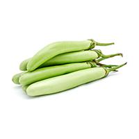 Brinjal long (green)